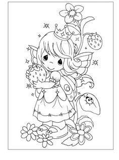 Precious Moments Kleurplaten voor kinderen. Kleurplaat en afdrukken tekenen nº 29