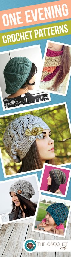 One Evening Crochet Patterns by www.thecrochetcafe.com Love this round-up of quick projects!
