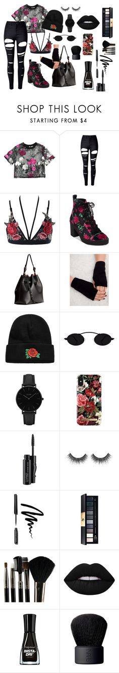 """Untitled #52"" by kiaratyagi on Polyvore featuring WithChic, Betsey Johnson, H&M, CLUSE, iDeal of Sweden, MAC Cosmetics, Bobbi Brown Cosmetics, John Lewis, Glamour Status and Lime Crime"