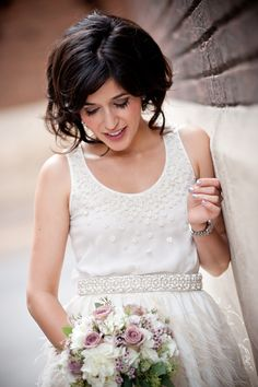 might have to cut my hair to have this style for my wedding! Love!