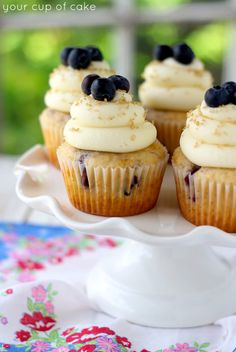 Cinnamon Blueberry Cupcakes with Cream Cheese Frosting