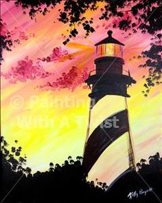St. Augustine Lighthouse - Murfreesboro, TN Painting Class - Painting with a Twist