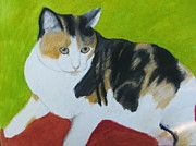 Original Oil Pastel   prints are available at http://jeanne-fischer.fineartamerica.com  #cat #feline