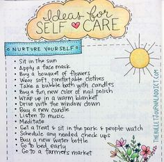 Bullet Journal Self Care Ideas - Keep a list on ways to stay happy if you're feeling down, must have collection in your bujo!