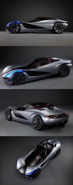 The Lexus Aileron is an unusual and radical concept car which was created by Jiyun Seo during her transportation design degree course at Hong-ik University in South Korea. The Aileron's styling was inspired by the art of origami, and the accordion-like extending body panels mean the car can change its aerodynamic profile depending on the speed at which it is traveling.