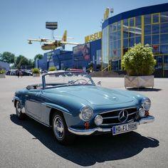 """High Noon"" encounter with a Mercedes Benz #190L (pic via instagram) / #190SLRestorations #BruceAdams190SL"