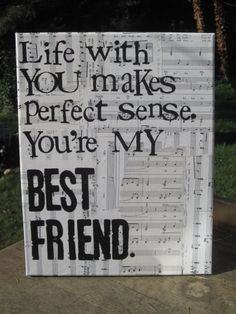 Wedding Present Shes My Best Friend Lyrics : Best Friend Canvas on Pinterest Best Friend Gifts, Friend Canvas and ...