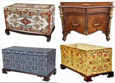 byzantine chests or drawers, colorful, carved, decorated, stand still legs Byzantine Architecture, Architecture Design, Painted Furniture, Furniture Design, Parks Furniture, Byzantine Art, Blanket Chest, Early Christian, Art History