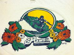Vintage 70s HAWAII Tshirt/ Thrashed Original by sweetVTGtshirt, $30.00