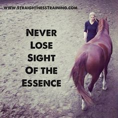 Never lose sight of the essence