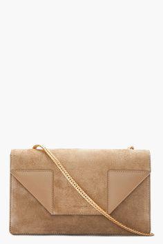 SAINT LAURENT Beige suede Betty Light bag 9350e22d7defd