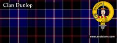 Clan Dunlop Tartan and Crest    http://www.scotclans.com/scottish_clans/clan_dunlop/