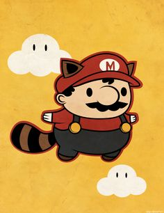 Raccoon Mario by beyx on deviantART