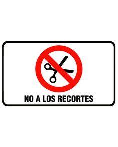 """No a los recortes"" bizikleta xafla. Tamaina: 165X100mm  ""No a los recortes"" placa de bicicleta. Tamaño: 165X100mm"