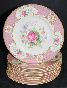 "Vintage ""Staffordshire Rose"" Pattern Myott Son & Co. Ltd. / Staffordshire England"