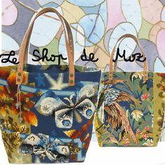 Le Gervaise, Sac Cabas en Canevas  Tapisserie Esprit Vintage, A French Tote Bag http://leshopdemoz.com/leshop/