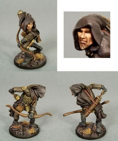 Male Thief / Ranger with Bow - Visions in Fantasy (x1 fig)