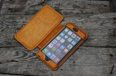 Leather iPhone 7 PLUS Wallet Case by jinapplehandmade on Etsy