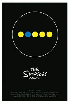 The Simpsons Movie (2007) Minimalist Movie Poster
