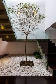 Arbol: Pasillo, hall y escaleras de estilo Moderno por aaestudio