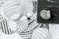Metall-Ring Schmuckkessel, rund (24 mm)