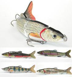 "Multi-section 5 section Fishing Lure Crank Bait Swimbait Bass Shad Dace 3D eyes Fishing Tools 6.5""&1.39 oz 5 style"
