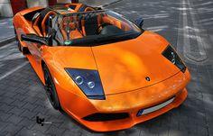 Orange Lamborghini #OrangeCars