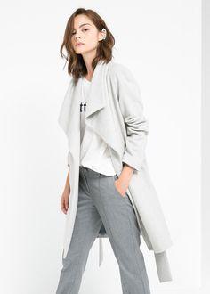 Lapels wool-blend coat by Mango