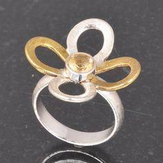 CITRINE CUT 925 SOLID STERLING SILVER DESIGNER RING 5.77g DJR6004 #Handmade #Ring