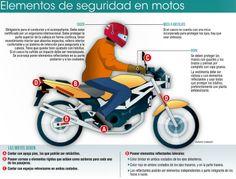 elementos de seguridad en motos...