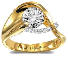 Yellow Gold & Platinum by Claude Thibaudeau Jewelry Stores, Jewelry Box, Jewellery, Two Tone Engagement Rings, Diamond Dreams, Cute Rings, Platinum Ring, Diamond Are A Girls Best Friend, Diamond Rings