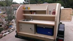 How To Build A DIY Teardrop Trailer  Kitchen