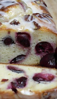 Cherry Lemon Loaf…I added flour with mixer on low. The cake was a bit tough. Next time I want to fold in the flour. Lemon Desserts, No Bake Desserts, Just Desserts, Delicious Desserts, Dessert Recipes, Yummy Food, Cake Recipes, Cherry Recipes, Lemon Recipes