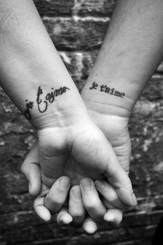 photo by mike flynn, via honeybeeinthecity.com #tattoo #wrist #jetaime #font