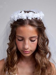 hair style of bridal 9 best 1st communion veils images on 4582