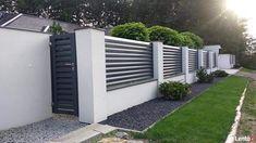 Front Wall Design, House Fence Design, Exterior Wall Design, Gate Designs Modern, Modern Fence Design, Modern Entrance Door, Front House Landscaping, Privacy Fence Designs, House Landscape