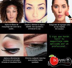 5 tips que harán que tu maquillaje luzca como realizado por un experto.  Encuentra muchos tips de imagen y maquillaje en www.facebook.com/LauAlvaradoMaquillistaProfesional