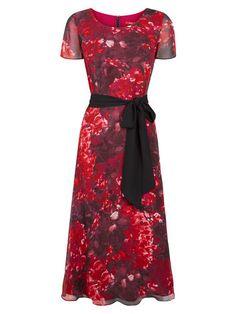 Hydrangea Print Soft Prom Dress