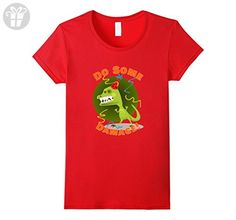 Womens Do Some Damage T Shirt For Your Birthday or a Gift Small Red - Birthday shirts (*Amazon Partner-Link)