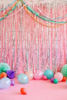 Ideas For Birthday Decorations Balloons Crepe Paper Party Kulissen, Party Deco, Disco Party, Party Time, Ideas Party, Sofia Party, Candy Party, Unicorn Birthday, Unicorn Party