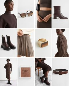 #andotherstories #brown #moodboard #colour #fashion #inspiration #outfit #block