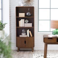 Belham Living Carter Mid Century Modern Bookcase - Bookcases at Hayneedle