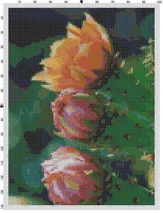 Cross Stitch Pattern Cactus Blossoms PDF by theelegantstitchery