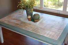 Kitchen Table Redo With Sheet Music