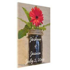==> consumer reviews          Personalized Mason Jar Red Daisy Country Wedding Stretched Canvas Print           Personalized Mason Jar Red Daisy Country Wedding Stretched Canvas Print today price drop and special promotion. Get The best buyDiscount Deals          Personalized Mason Jar Red ...Cleck link More >>> http://www.zazzle.com/personalized_mason_jar_red_daisy_country_wedding_canvas-192506164556662476?rf=238627982471231924&zbar=1&tc=terrest