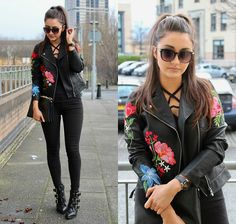 Get this look: http://lb.nu/look/8612153  More looks by Terri L: http://lb.nu/herfastestfashion  Items in this look:  New Look Jacket, Asos Boots, River Island Jeans   #chic #minimal #romantic #newlook #riverisland #gucci #inspo #floral