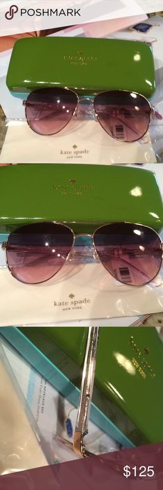 Kate SpadeNWT aviator glasses NWT-never used Includes case and lens cloth kate spade Accessories Glasses