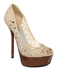 BEBE Shoes, Chantal Platform Pumps.  Sooo cute, just wish they didn't have such a huge platform.  Boo.