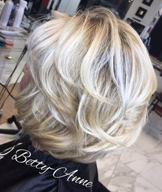 50+ Shorter Blonde Layered Haircut