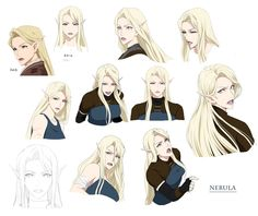 "Nebula is the main character of my manga ""Targa"". Character Model Sheet, Female Character Design, Character Design References, Character Drawing, Character Design Inspiration, Character Illustration, Character Concept, Girls Characters, Dnd Characters"